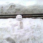 В парке на лавке сидел снеговик…